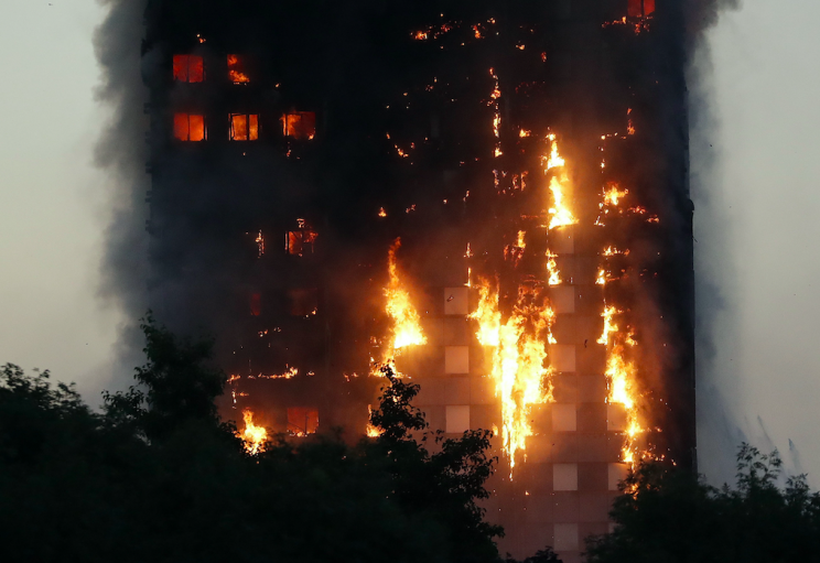 The blaze devastated the high rise in Kensington (PA)