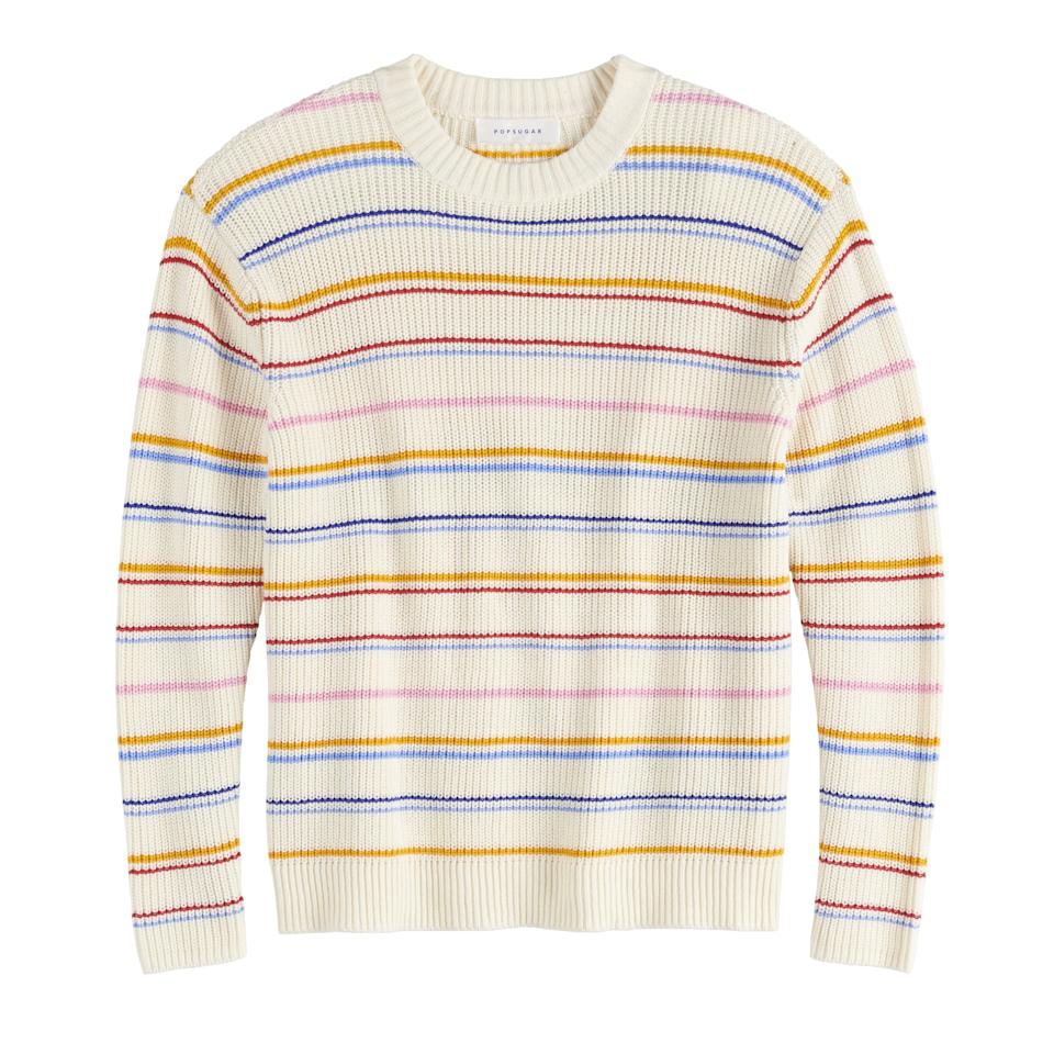"""<p>""""This <a href=""""https://www.popsugar.com/buy/POPSUGAR-Long-Sleeve-Boxy-Sweater-483890?p_name=POPSUGAR%20Long%20Sleeve%20Boxy%20Sweater&retailer=kohls.com&pid=483890&price=37&evar1=fab%3Aus&evar9=46536407&evar98=https%3A%2F%2Fwww.popsugar.com%2Ffashion%2Fphoto-gallery%2F46536407%2Fimage%2F46536515%2FAffordable-Fall-Fashion-Favorite-POPSUGAR-Long-Sleeve-Boxy-Sweater&prop13=api&pdata=1"""" rel=""""nofollow"""" data-shoppable-link=""""1"""" target=""""_blank"""" class=""""ga-track"""" data-ga-category=""""Related"""" data-ga-label=""""https://www.kohls.com/product/prd-3827227/womens-popsugar-long-sleeve-boxy-sweater.jsp?color=Black%20Stripe&amp;prdPV=19"""" data-ga-action=""""In-Line Links"""">POPSUGAR Long Sleeve Boxy Sweater</a> ($37, originally $50) also comes in black and I had a hard time deciding which one to choose - they're both perfect with my favorite blue jeans for casual style."""" </p>"""