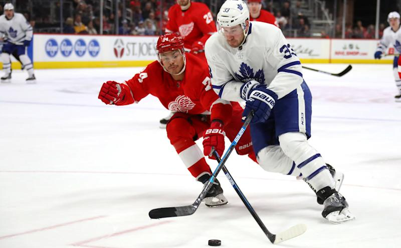 Sheldon Keefe's systems are showing themselves early in his tenure as the Toronto Maple Leafs coach. (Gregory Shamus/Getty Images)