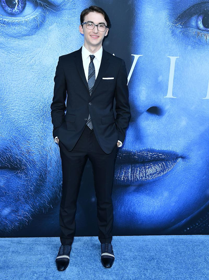 Isaac Hempstead Wright at the premiere of Game of Thrones season seven in Los Angeles, California, July 2017.