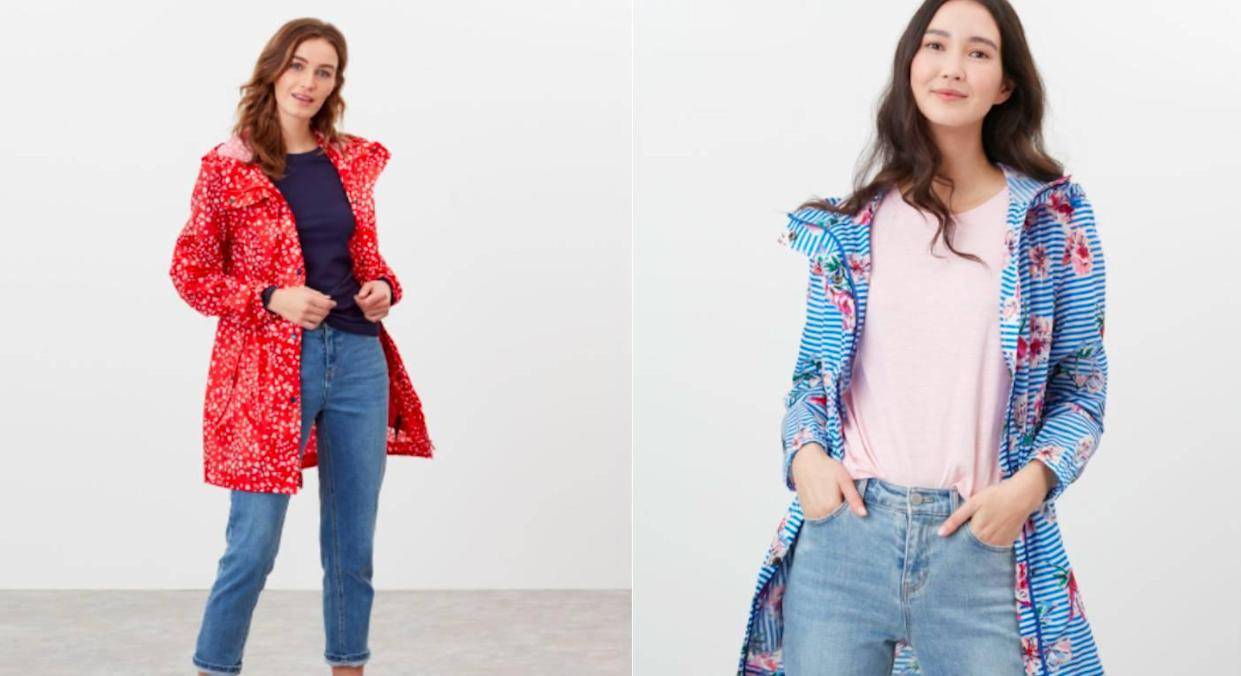 Joules' new raincoats couldn't have come at a better time. (Joules)