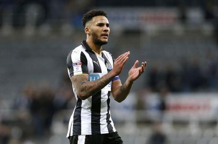 Britain Soccer Football - Newcastle United v Burton Albion - Sky Bet Championship - St James' Park - 5/4/17 Jamaal Lascelles of Newcastle United applauds the fans after the game Mandatory Credit: Action Images / Ed Sykes Livepic