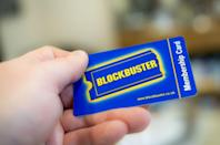 """<p>Some people are willing to shell out big bucks when it comes to collecting nostalgia. Case in point: there's an entire market out there for Blockbuster memorabilia. On eBay, vintage Blockbuster membership cards go for anywhere between $5-$200. But that's not all. Old merchandising stickers are priced at approximately $900, and a <a href=""""https://go.redirectingat.com?id=74968X1596630&url=https%3A%2F%2Fwww.ebay.com%2Fitm%2F173518129021%3Fhash%3Ditem28667c877d%253Ag%253AaqkAAOSwMHtbkGtR&sref=https%3A%2F%2Fwww.menshealth.com%2Fentertainment%2Fg36407749%2Fblockbuster-video-facts%2F"""" rel=""""nofollow noopener"""" target=""""_blank"""" data-ylk=""""slk:branded credit card pin pad"""" class=""""link rapid-noclick-resp"""">branded credit card pin pad</a> (yes, the device you swipe your credit card thru) is, at the time of this writing, marked at a whopping $4,800.</p>"""
