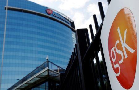 FILE PHOTO: The GlaxoSmithKline building is pictured in Hounslow, west London June 18, 2013.   REUTERS/Luke MacGregor/File Photo