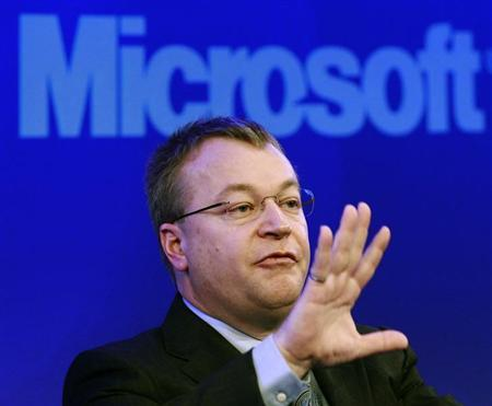Nokia chief executive Stephen Elop speaks during a Nokia event in London February 11, 2011. REUTERS/Luke MacGregor