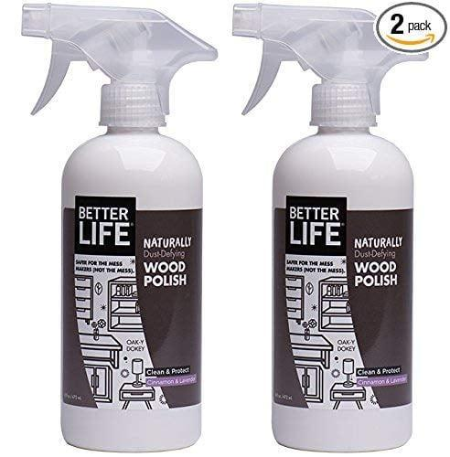 <p>Polish cabinets, furniture, paneling, and more with the <span>Better Life Natural Wood Polish</span> ($13).</p>