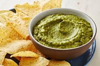 "<p>This thicker version of the classic green salsa— made with tomatillos, onions, and jalapeño— is ideal for dipping.</p><p><em><a href=""https://www.delish.com/cooking/recipe-ideas/a30222528/homemade-salsa-verde-recipe/"" rel=""nofollow noopener"" target=""_blank"" data-ylk=""slk:Get the recipe from Delish »"" class=""link rapid-noclick-resp"">Get the recipe from Delish »</a></em></p>"
