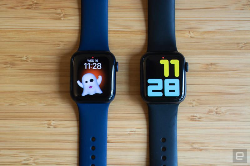 Comparing the Apple Watch Series 5 and Series 6.