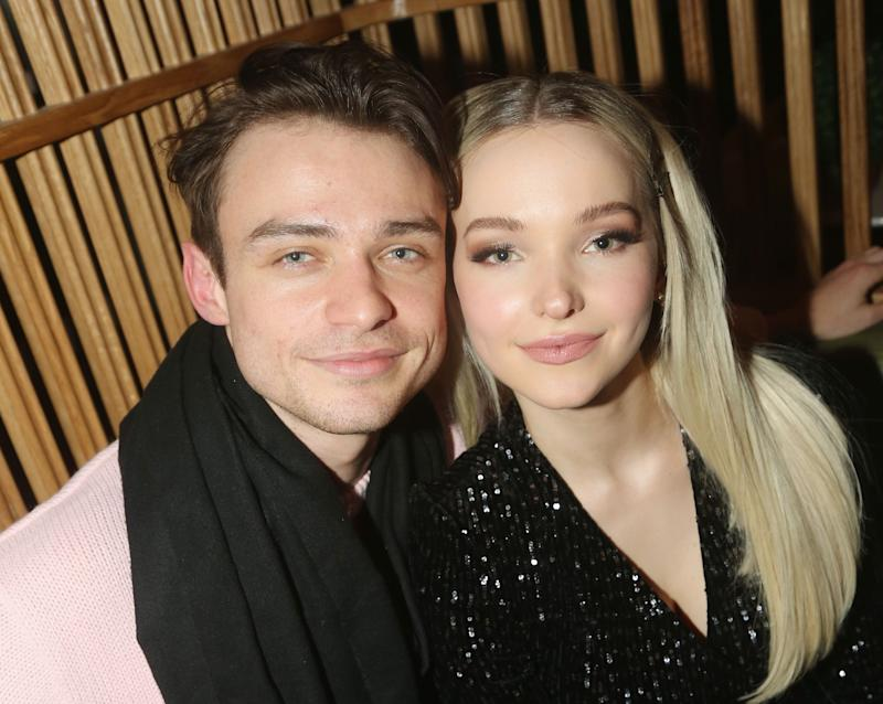 Dove Cameron and Thomas Doherty at an event