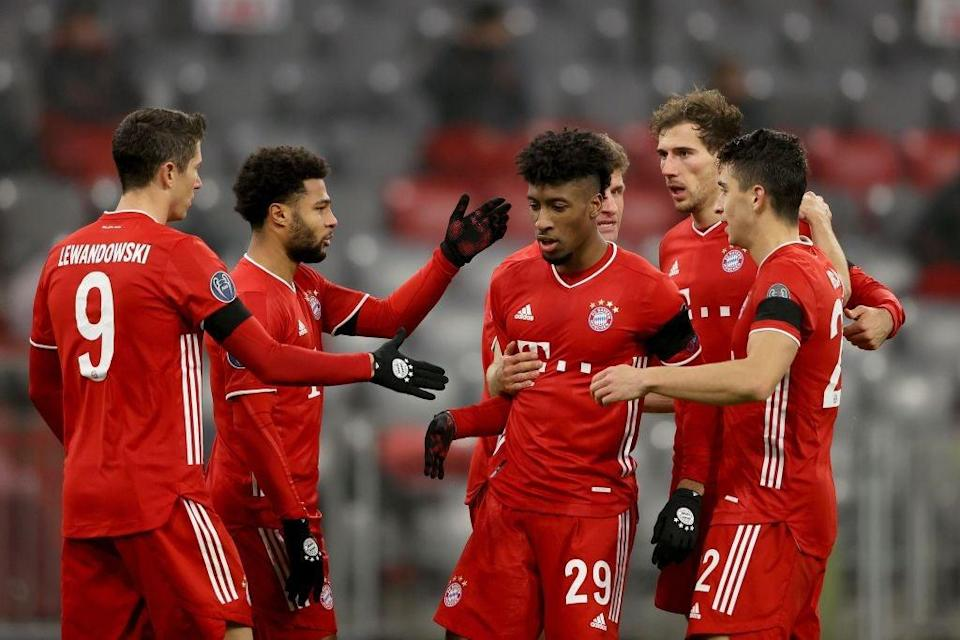 Kingsley Coman scores for Bayern Munich (Getty Images)