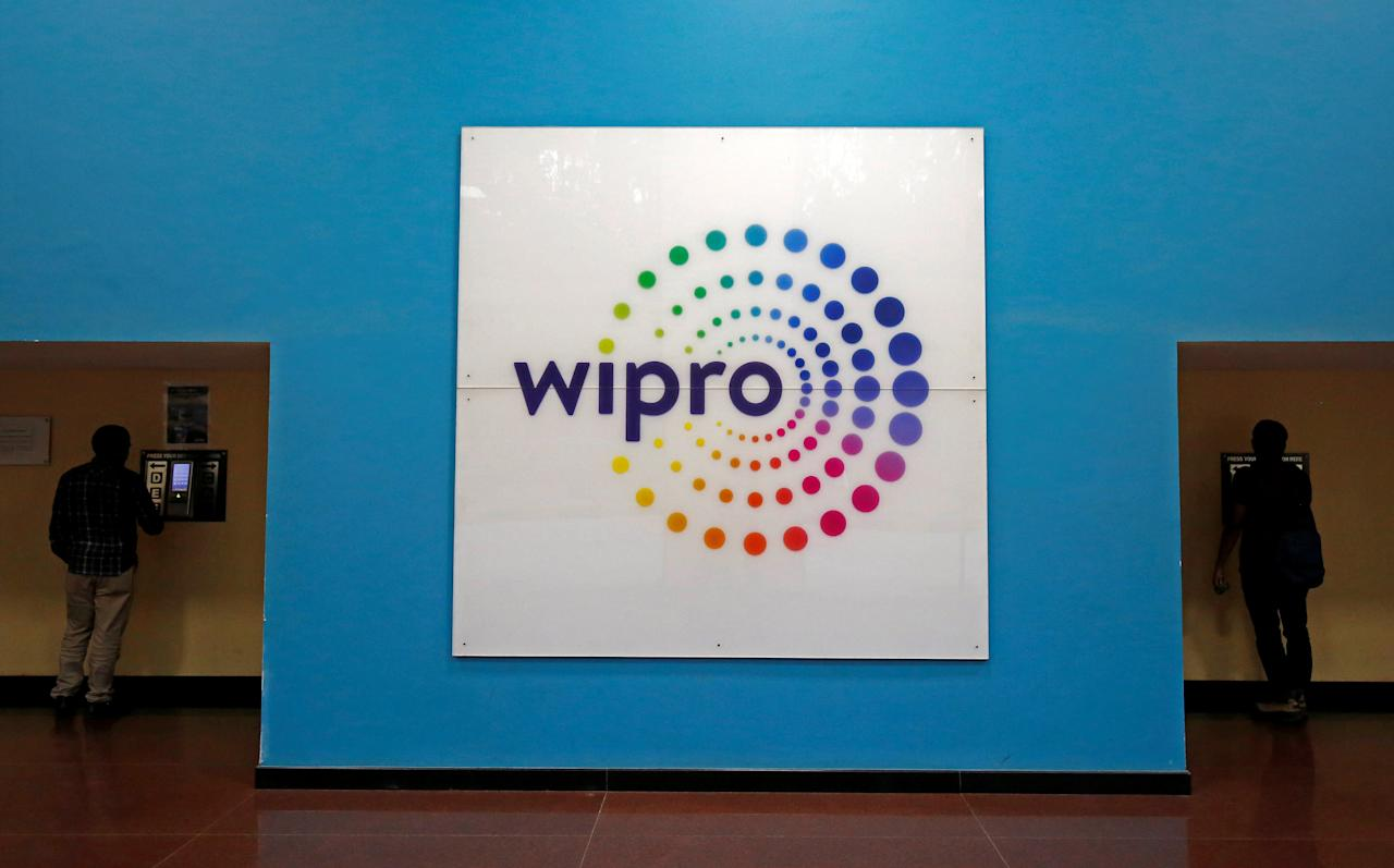 FILE PHOTO: The logo of Wipro is seen inside the company's headquarters in Bengaluru, India, January 19, 2018. REUTERS/Abhishek N. Chinnappa/File Photo