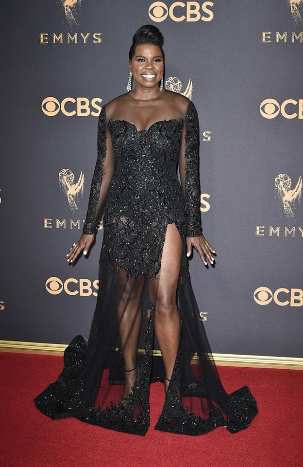 <p>Leslie Jones attends the 69th Annual Primetime Emmy Awards at Microsoft Theater on September 17, 2017 in Los Angeles, California. (Photo by David Crotty/Patrick McMullan via Getty Images) </p>