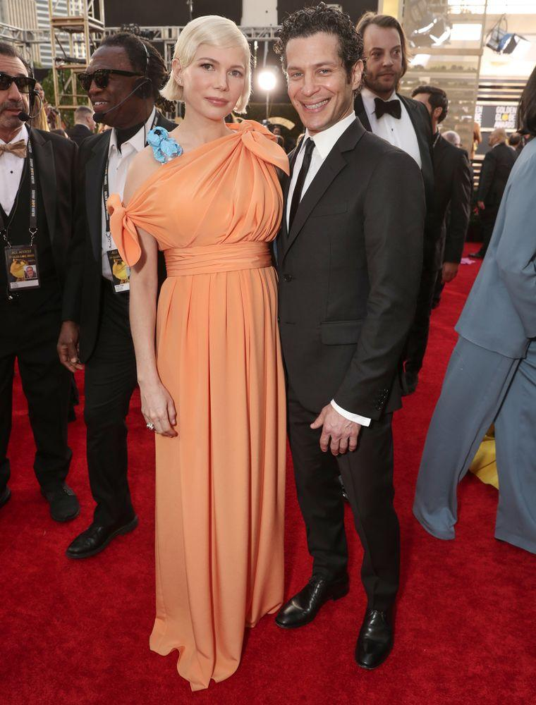 Michelle Williams (L) and Thomas Kail at the 2020 Golden Globes | Todd Williamson/NBC/Getty