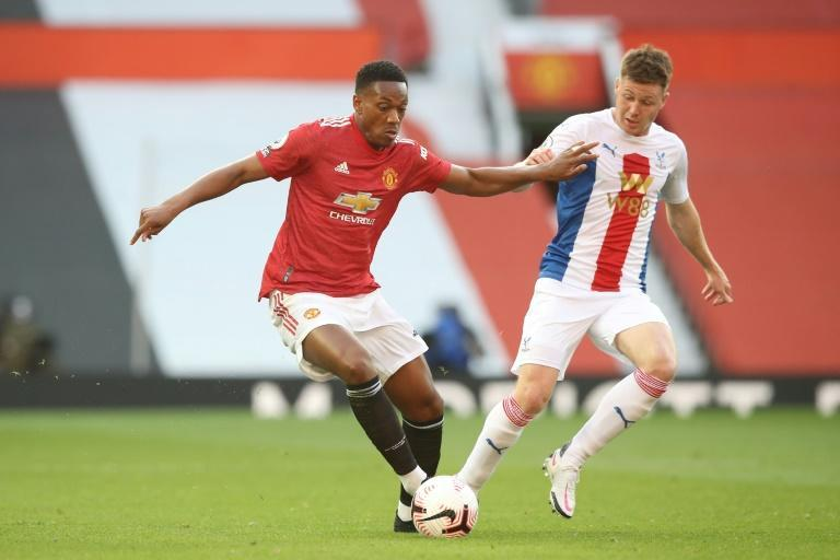 Martial playing for Manchester United against Crystal Palace in the Premier League last month
