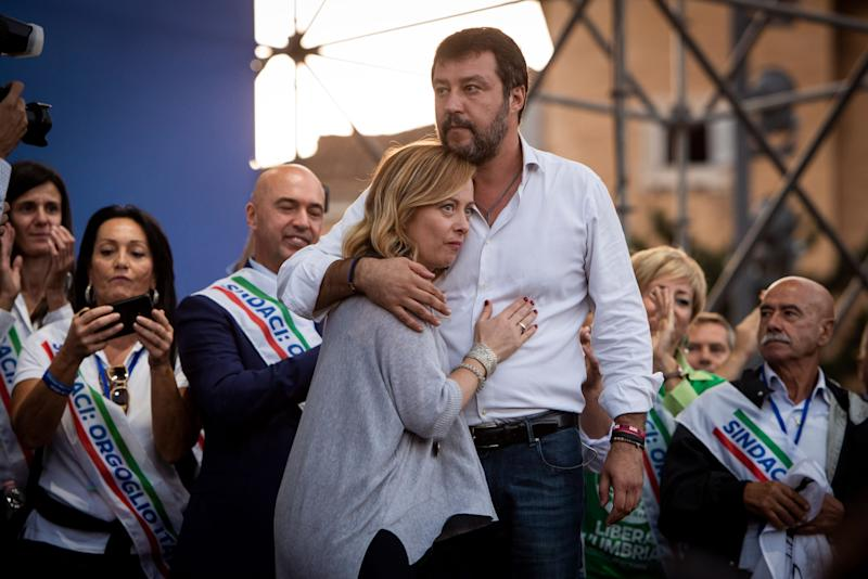 Giorgia Meloni e Matteo Salvini (Photo: Getty Images)