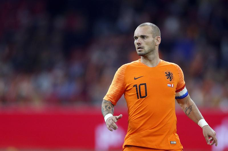 Wesley Sneijder of Holland during the International friendly match match between The Netherlands and Peru at the Johan Cruijff Arena on September 06, 2018 in Amsterdam, The Netherlands(Photo by VI Images via Getty Images)