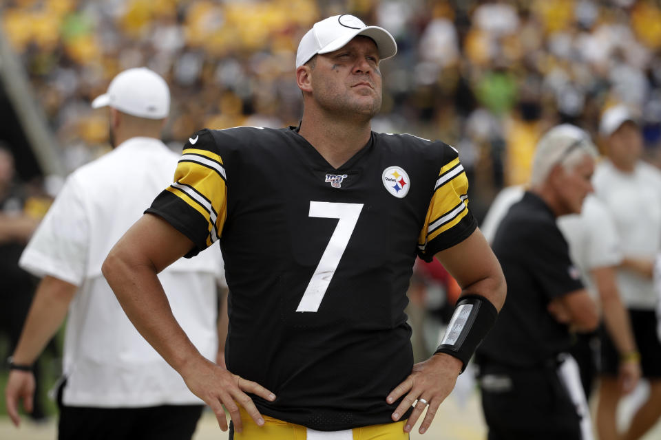 Steelers quarterback Ben Roethlisberger missed all but two games last season. (AP Photo/Gene J. Puskar)
