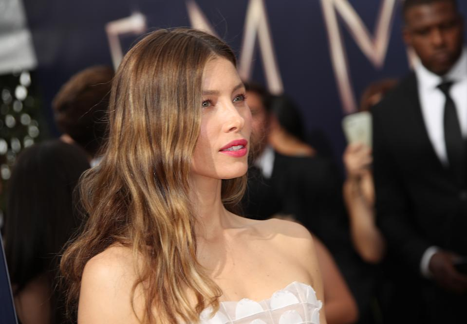 Jessica Biel attends the 70th Emmy Awards at Microsoft Theater on September 17, 2018 in Los Angeles, California. (Photo by Dan MacMedan/Getty Images)