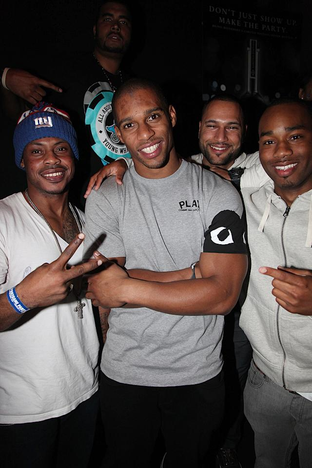 "Giants wide receiver Victor Cruz celebrated his team's Super Bowl victory with friends and family at Sensu. ""I dreamed of this moment,"" said Cruz, who scored the Giants' first touchdown in the game -- and then did the salsa in the end zone. ""This is the best  feeling of my life.""     (2/5/2012)"