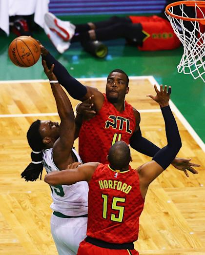 The Hawks frustrated the Celtics at the hoop throughout Game 6. (Maddie Meyer/Getty Images)