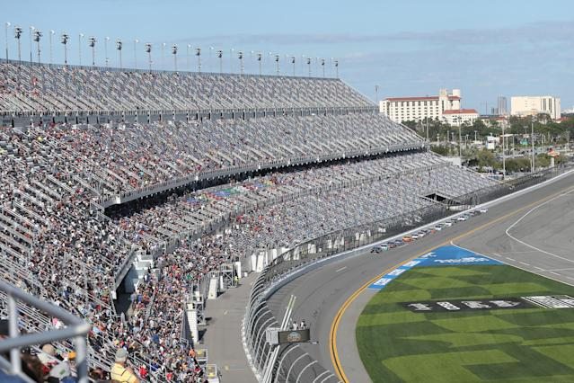 DAYTONA, FL - FEBRUARY 09: A general view of the race during the Busch Clash at DAYTONA on February 9, 2020 at Daytona International Speedway in Daytona Beach, Fl. (Photo by David Rosenblum/Icon Sportswire via Getty Images)