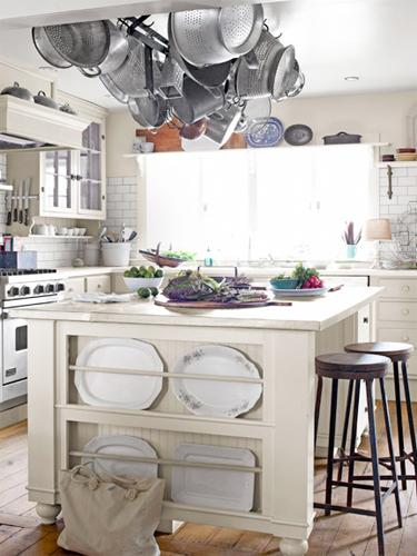 """<div class=""""caption-credit""""> Photo by: Max Kim-Bee</div><div class=""""caption-title"""">Farmhouse Design</div>The kitchen island in this <a href=""""http://www.countryliving.com/homes/house-tours/farmhouse-decorating-ideas?link=emb&dom=yah_life&src=syn&con=blog_countryliving&mag=clg"""" target=""""_blank"""">Ohio home</a> boasts a zinc top crafted by a local metal shop and has a built-in plate rack for stealthy storage. Subway tile from Home Depot forms the backsplash. <br> <b><br> Plus: <br> <a target=""""_blank"""" href=""""http://www.countryliving.com/homes/decor-ideas/kitchen-designs?link=rel&dom=yah_life&src=syn&con=blog_countryliving&mag=clg"""">The Ultimate Guide to Kitchen Decorating »</a> <br> <a target=""""_blank"""" href=""""http://www.countryliving.com/homes/decor-ideas/bedroom-designs-gallery?link=rel&dom=yah_life&src=syn&con=blog_countryliving&mag=clg"""">100+ Bedroom Design Ideas You'll Love »</a></b> <br>"""