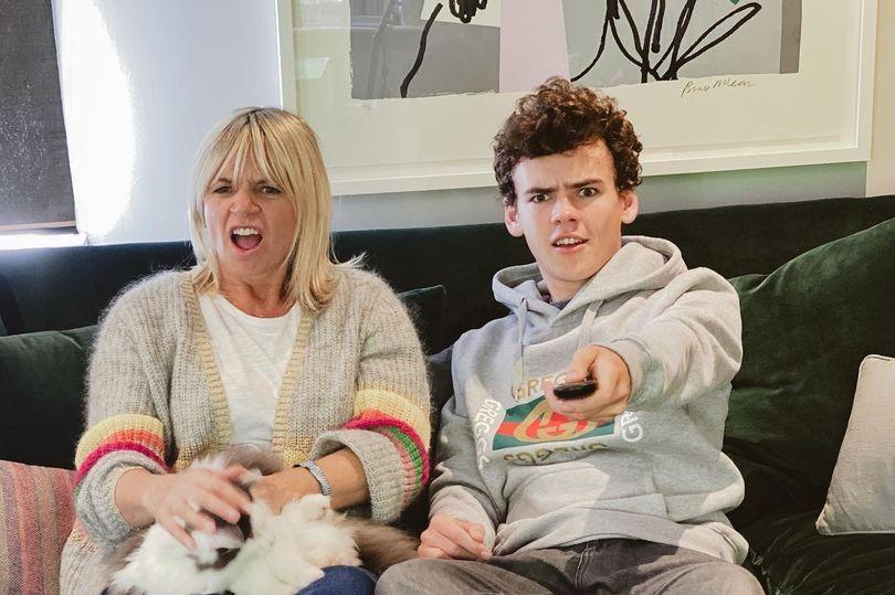 Woody Cook appears with mum Zoe Ball on 'Celebrity Gogglebox'. (Channel 4)