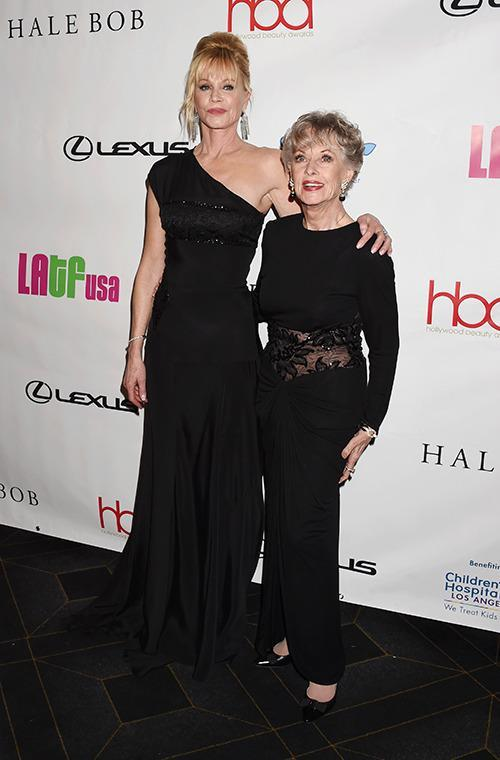 Melanie Griffith and Tippi Hedren
