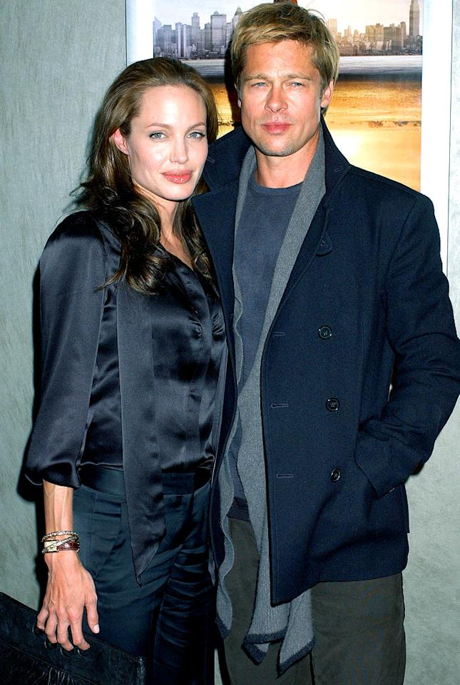 "Angelina Jolie and Brad Pitt's love has grown into a family of six children. Gregg DeGuire/<a href=""http://www.wireimage.com"" target=""new"">WireImage.com</a> - January 8, 2007"
