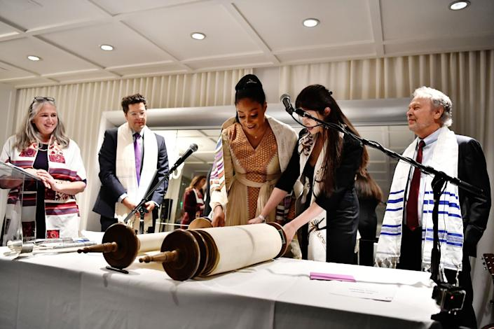 Tiffany Haddish's bat mitzvah ceremony included readings from the Torah. (Photo: Emma McIntyre/Getty Images for Netflix)