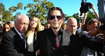 Johnny Depp and his wife at the time, Amber Heard, were accused of illegally bringing their dogs into Australia in 2015. When the dogs, Pistol and Boo were discovered they were captured by Australian authorities. The stars were then threatened by the Australian agriculture minister, Barnaby Joyce, if they did not remove the dogs they would be euthanised. Heard wound up pleading guilty to providing a false immigration document and the couple issued their infamous apology video. Photo: Getty Images
