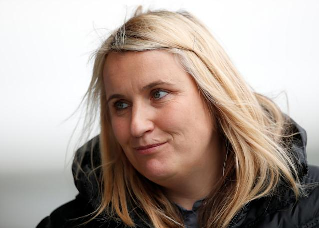 Chelsea manager Emma Hayes took charge of her 200th game for the club Action Images via Reuters/Andrew Boyers
