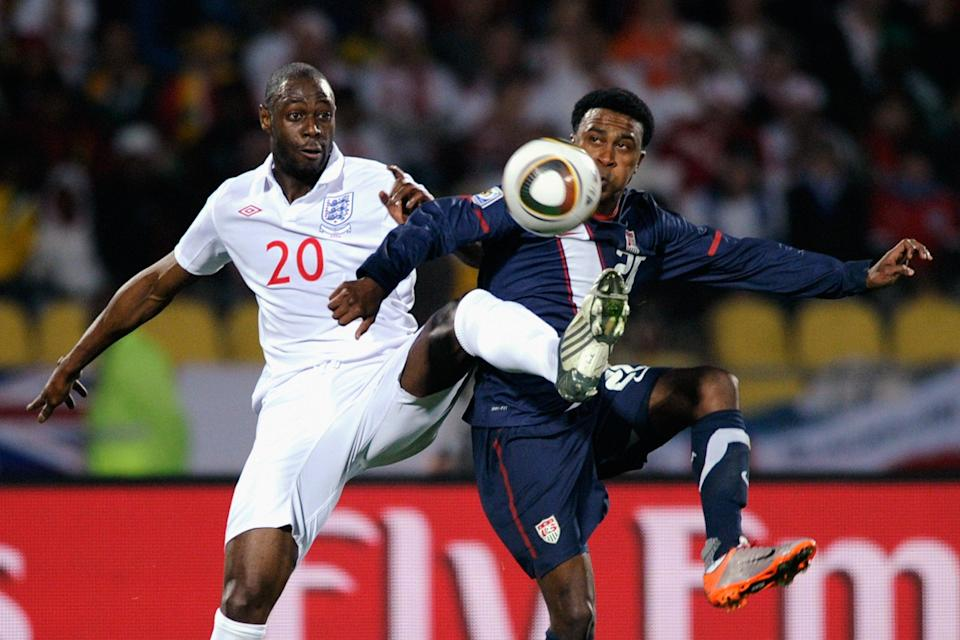 Ledley King playing for England against USA at World Cup 2010. (Getty Images)