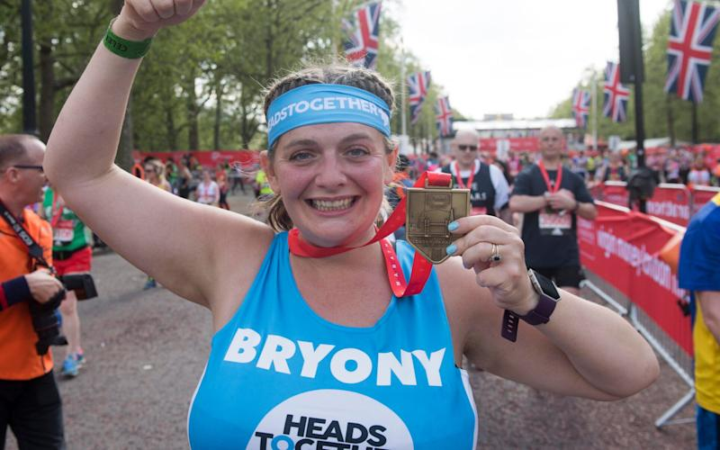 The Telegraph's Bryony Gordon with her medal - Credit: Paul Grover