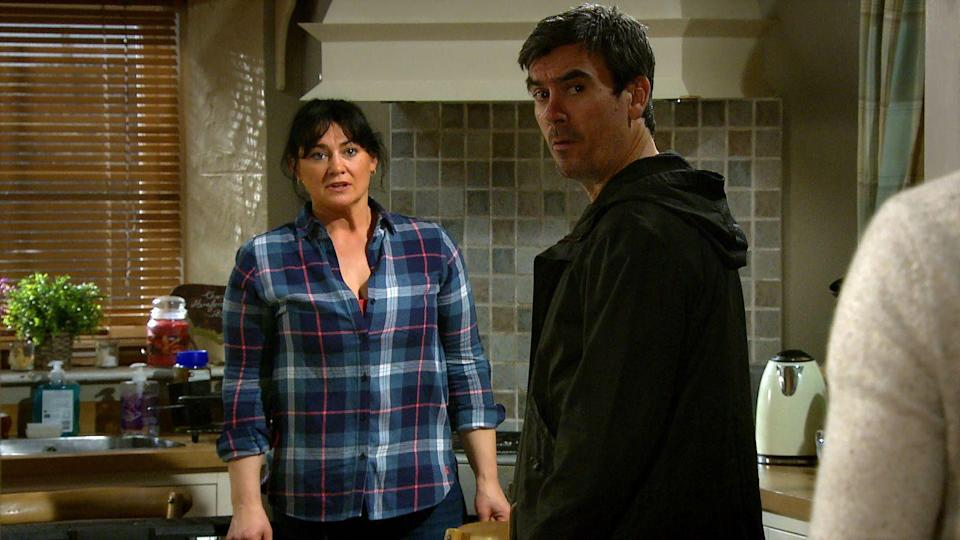 <p>She offers Mack a place to stay at Butler's.</p>
