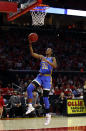 UCLA guard Kennedy Burke shoots against during the first half against Maryland in a second-round game in the NCAA women's college basketball tournament Monday, March 25, 2019, in College Park, Md. (AP Photo/Patrick Semansky)