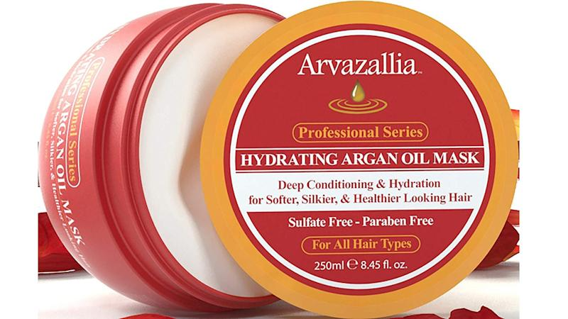 A replenishing argan oil mask that'll help your hair survive the winter.