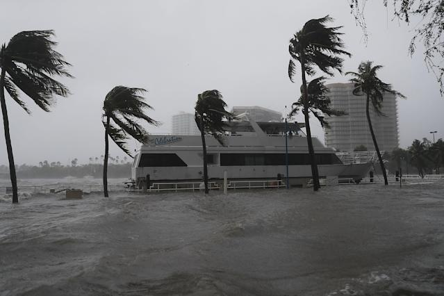<p><strong>Miami</strong><br>Boats ride out Hurricane Irma in a marina on Sept. 10, 2017 in Miami, Fla. Hurricane Irma made landfall in the Florida Keys as a Category 4 storm on Sunday, lashing the state with 130 mph winds as it moves up the coast. (Photo: Joe Raedle/Getty Images) </p>