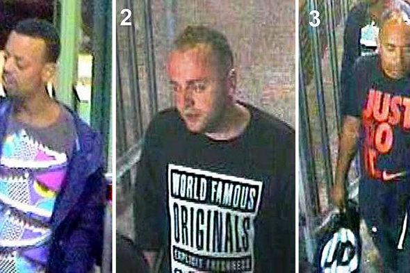 three men who walked on train tracks in Worthing: police search