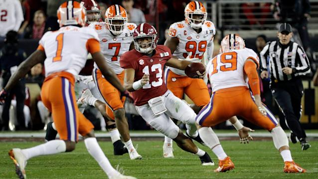Friday's college football: Alabama's Tua Tagovailoa absorbs lessons from title game loss
