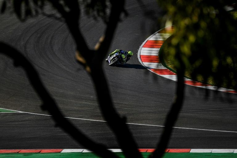 End of the road: Valentino Rossi ended his 15-year career as a Yamaha factory rider in Portugal