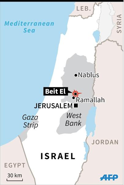 map locating sundays shootings in the west bank near the beit el settlement afp