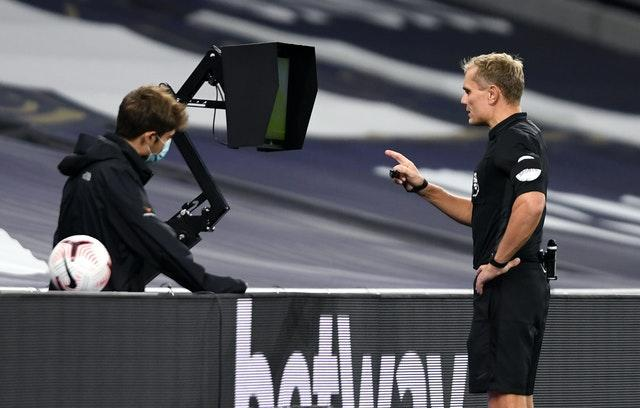 Graham Scott chose to allow Brighton's equaliser to stand after checking the pitchside monitor