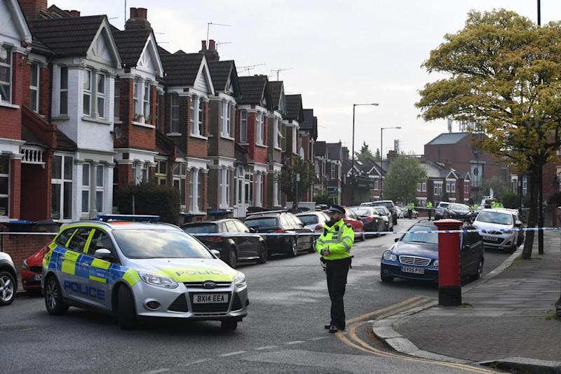 Terror: Harlesden Road where the raid happened (Jeremy Selwyn)