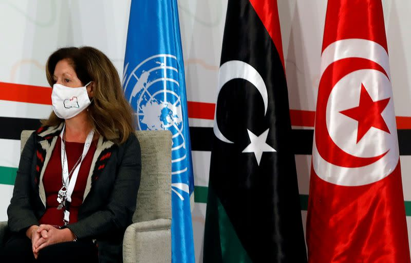 FILE PHOTO: Libyan negotiators meet in Tunis to prepare for elections