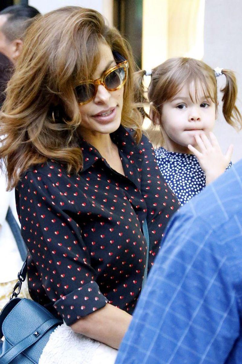 "<p>Eva Mendes became a first-time mom at the age of 40, when she and Ryan Gosling welcomed daughter, Esmeralda. Two years later Mendes became pregnant with their second daughter, Amada. In a 2014 article with <a href=""https://www.violetgrey.com/violet-files/cover-story/eva-mendes-on-beauty"" rel=""nofollow noopener"" target=""_blank"" data-ylk=""slk:The Violet Files"" class=""link rapid-noclick-resp""><em>The Violet Files</em></a>, the actress explained how motherhood completely challenged her. ""I'm completely exhausted,"" she explained. ""I thought my wild nights were over but these are some of the wildest nights I've ever had."" </p>"