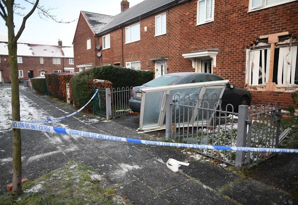 The explosion happened in Pewsey Road, Wythenshawe, Manchester (Getty)