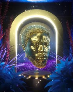 NFT by artist Andre Oshea in tribute to Chadwick Boseman, raising money for the Colon Cancer Foundation.