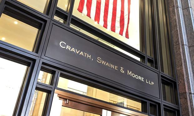 Cravath, Swaine & New York. (Photo: Mike Scarcella/ALM)