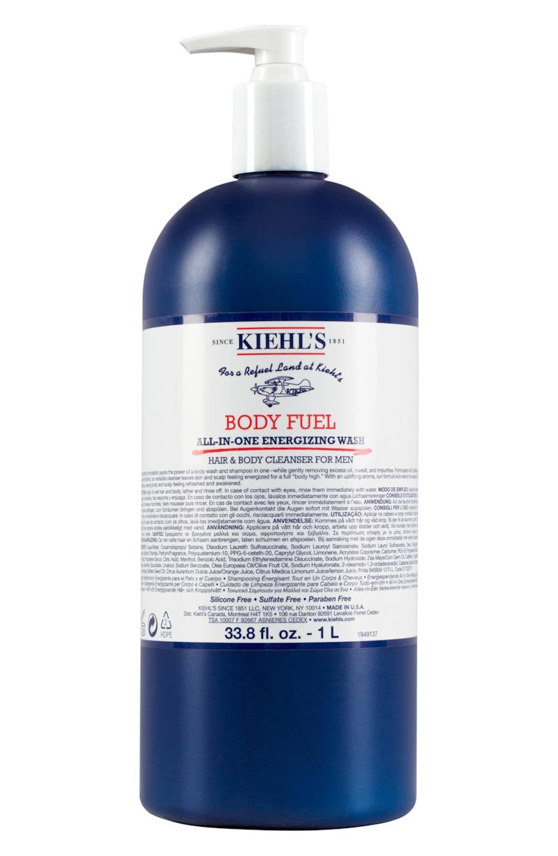 Kiehl's Jumbo Body Fuel All-in-One Energizing Wash. Image via Nordstrom.
